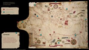 """Ein digitalisierter Portolan mit """"Lupenfunktion"""" vermittelt Informationen zu Kartografie und Seefahrt. Umsetzung: Althaler&Oblasser."""