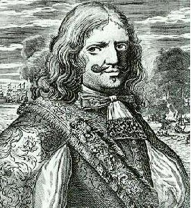 Sir Henry Morgan († 1688), walisischer Freibeuter. Lithografie aus dem 18. Jh.